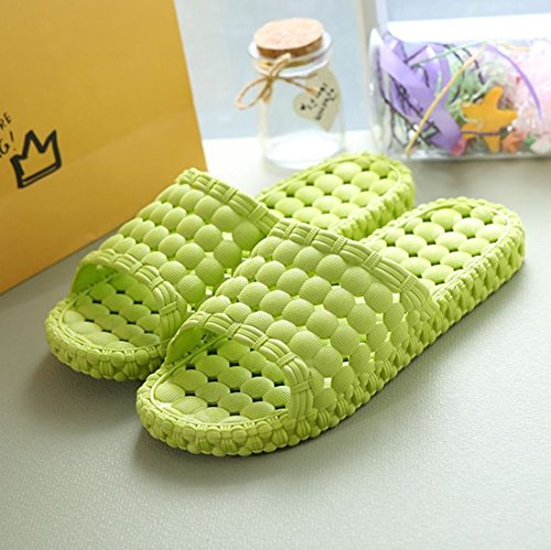 Pocartz Unisex Indoor Home Bathroom Shower Slipper Antideslizante Sandalia Para El Hogar Spa Masaje Zapatos Fruit Green