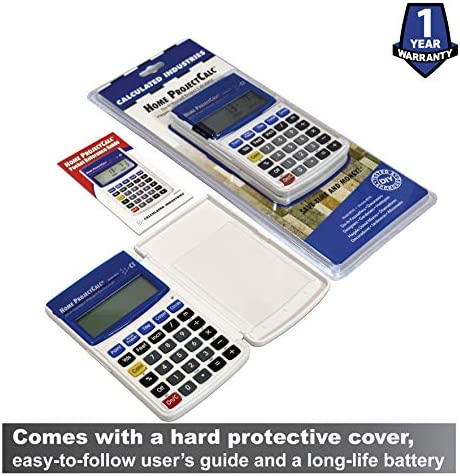 Calculated Industries 8510 Home ProjectCalc Do-It-Yourselfers Feet-Inch-Fraction Project Calculator | Dedicated Keys for Estimating Material Quantities and Costs for Home Handymen and DIYs