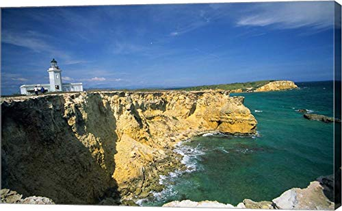 Faro De Cabo Rojo Lighthouse, The Pasaje De La Mona, Puerto Rico by Ellen Clark/Danita Delimont Canvas Art Wall Picture, Gallery Wrapped with Image Around Edge, 27 x 17 (Puerto Rico Lighthouses)