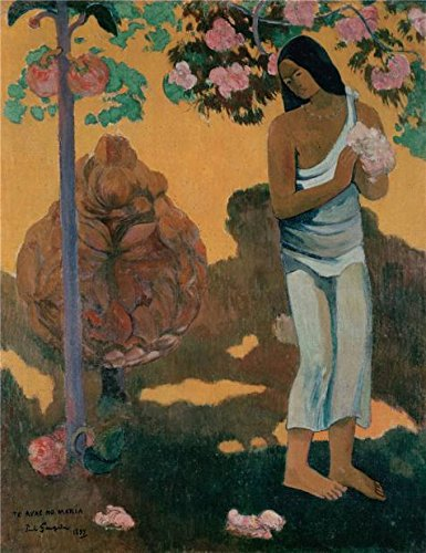 - Oil Painting 'The Month Of Mary,1899 By Paul Gauguin', 16 x 21 inch / 41 x 53 cm , on High Definition HD canvas prints is for Gifts And Bath Room, Gym And Home Office Decoration, floral
