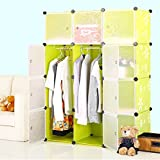 Kurtzy® Wardrobe Organizer Storage Rack for Kids and Women Clothes Cabinet Bedroom Organiser Boxes with 12 Doors and Shelf
