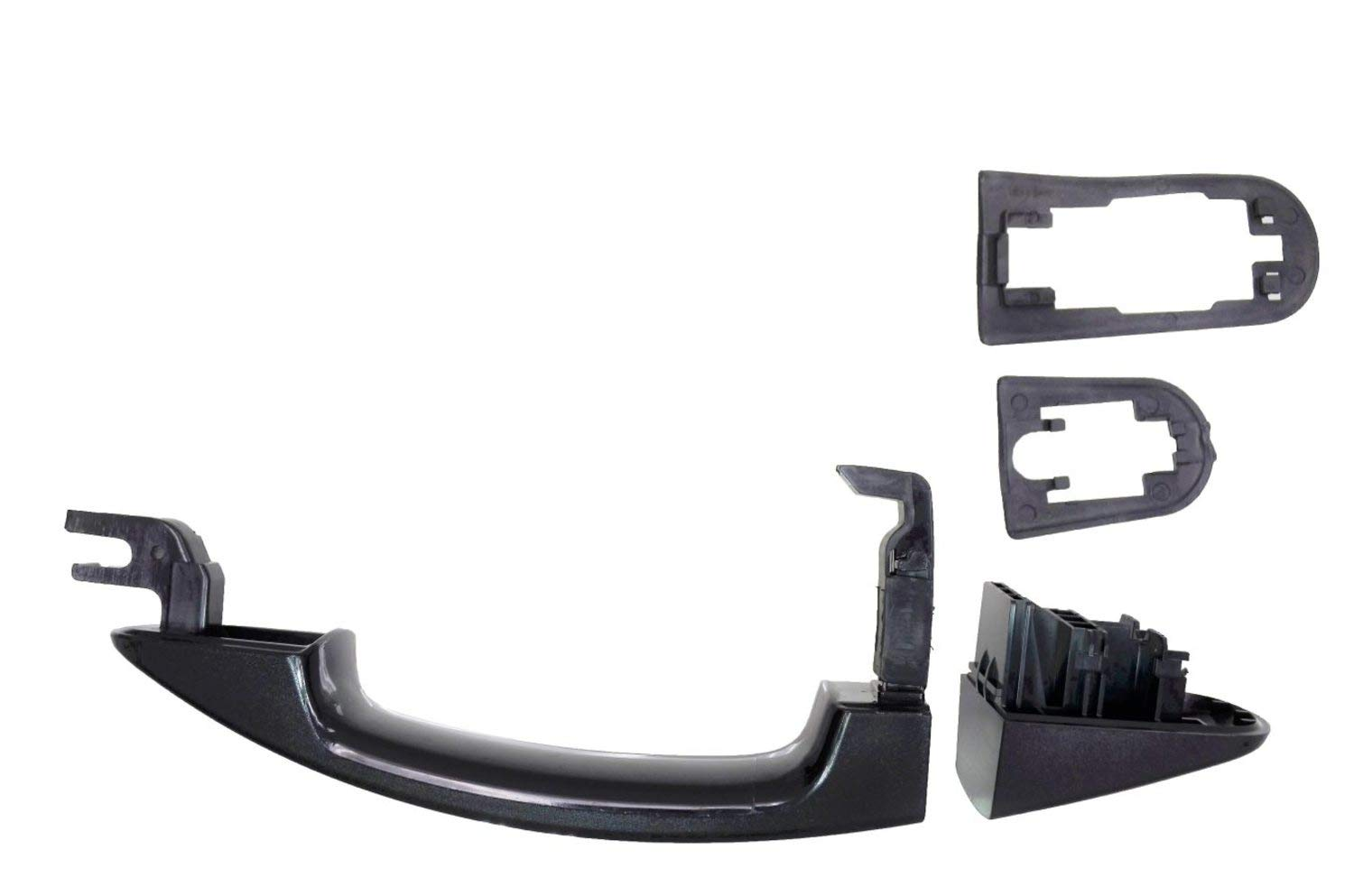 Textured Black PT Auto Warehouse FO-3347A-RLK Rear Left Driver Side Exterior Outer Outside Door Handle