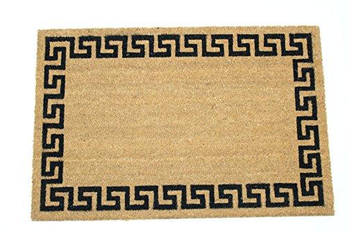 - Home Garden Hardware 39686 Greek Key Border24x36 Inch Printed Coir Doormat, Medium, Natural