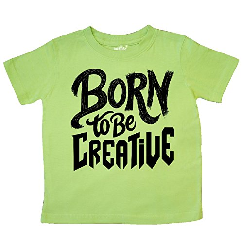 Creative Gifts Lime Green (inktastic Born to Be Creative Hand Lettering Black Toddler T-Shirt 4T Key Lime)