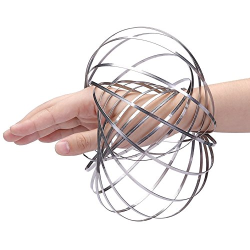 DE Kinetic Educational Spring Toy - Multi Sensory Interactive 3D Shaped Flow Ring (Kinetic Ring)