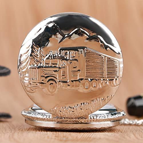 ZJZ Ny fickur silver lastbil lastbil design fickur med halsband kedja