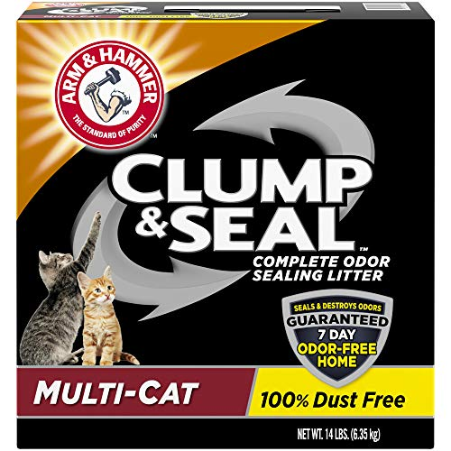 Arm & Hammer Clump & Seal Litter, Multi-Cat 14lb ()