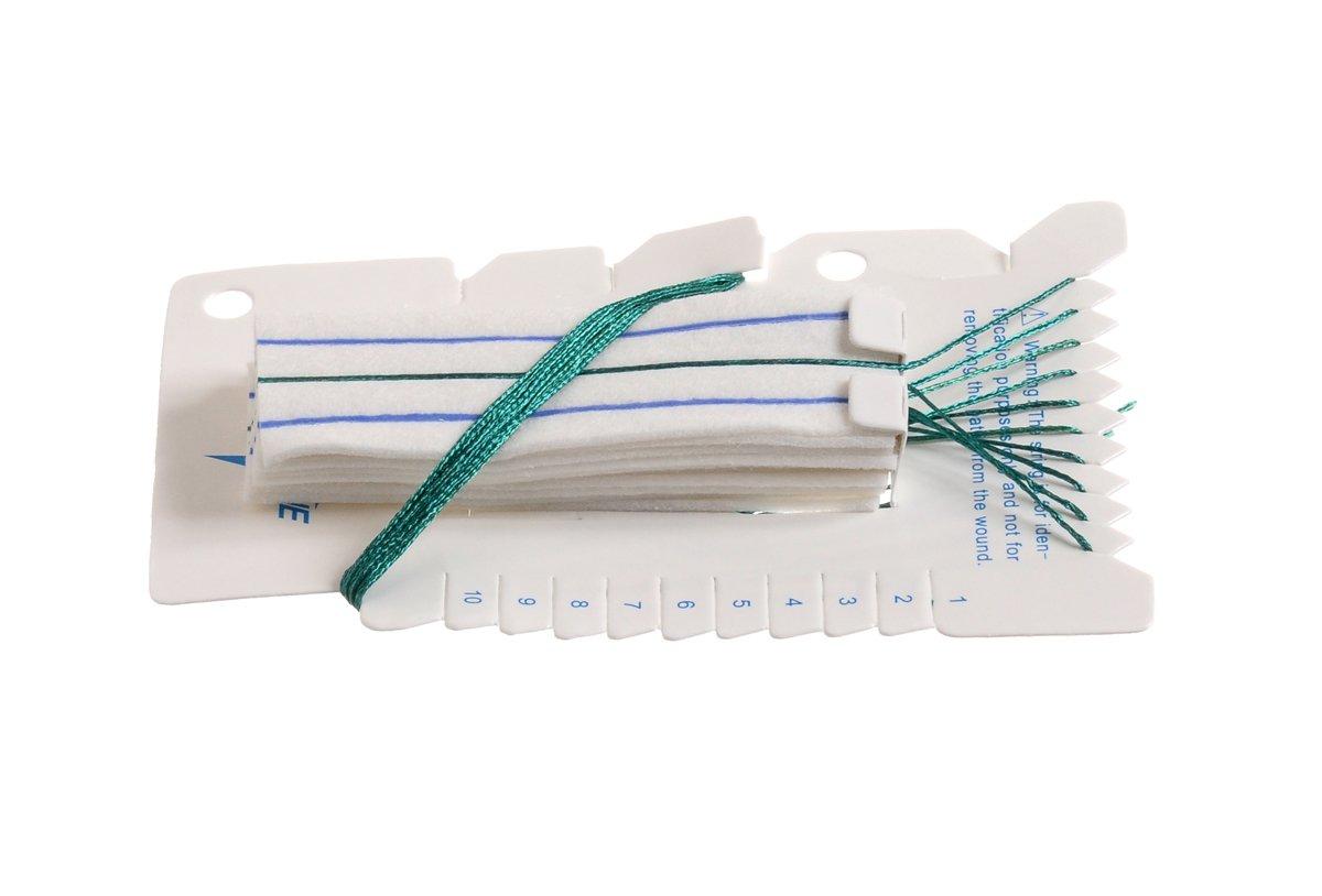 Medline NEUROSPNG14 Medline X-Ray Detectable Neuro Sponge, Cotton, 1'' Width x 3'' Length (Pack of 200) by Medline