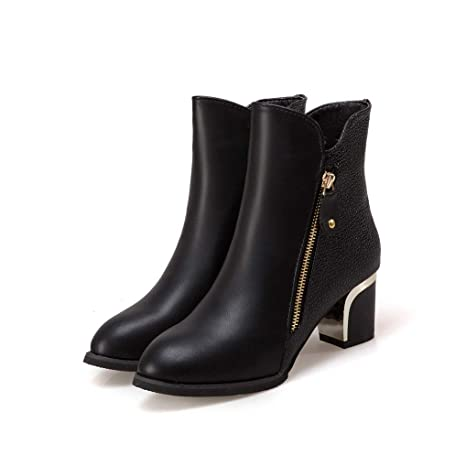 ae0bd7dcf6776 Amazon.com: Eric Carl Womens Winter Ankle Boot Side Zipper Chunky ...
