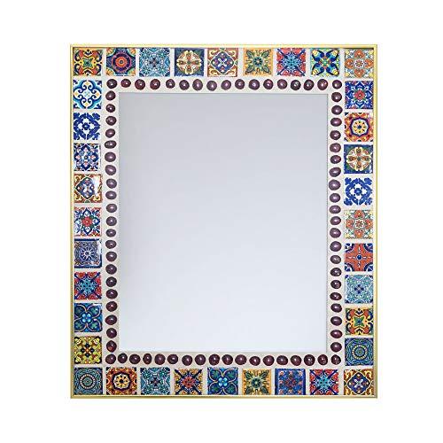 (Fiesta Flora Mosaic Mirror (16