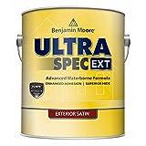 Benjamin Moore Ultra Spec EXT Exterior Paint - Satin Finish (Gallon, White)