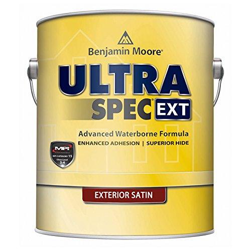 Benjamin Moore Ultra Spec EXT Exterior Paint - Satin Finish (Five Gallon, White) ()