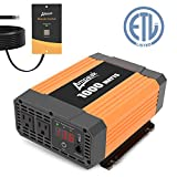 Ampeak 1000W Power Inverter 12V DC to 110V AC with Remote Control 2 AC Outlets and USB Port for Car RV Truck Converter