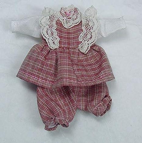 2 Miniature Infant Clothes Hangers BLUE Lace: DOLLHOUSE Miniatures 1:12 scale