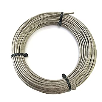 Aircraft Wire | Stainless Steel Aircraft Cable 1 8 1x19 Type 316 Grade 100ft Amazon
