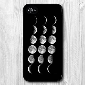 New Fashion Design Moon Pattern Protective Hard Phone Cover Skin Case For iPhone 4 4s +Screen Protector