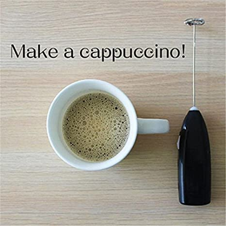 BESTOMZ Mini vaporizador Manual de Leche Espumador de Leche electrico Batidor de Leche Chocolate Espumador de Cafe/Latte/Cappuccino (Color Aleatorio): ...