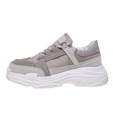 df8962457f23 Damen Laufschuhe Plateau Turnschuhe Mode Sportschuhe Frauen Freizeitschuhe  Cross Tied Fashion Sneakers Flache Schuhe Laufsportschuhe ABsoar