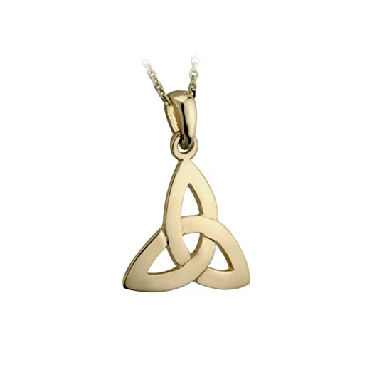Amazon celtic knot necklace 14k gold made in ireland jewelry celtic knot necklace 14k gold made in ireland aloadofball Choice Image