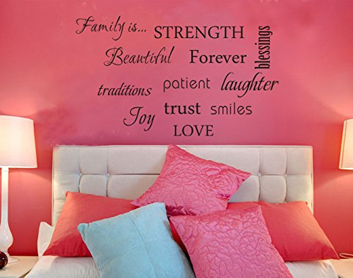 Removable Wall Decal Art Sticker Mural Home Living Room Decor Quote Family  Words Part 58