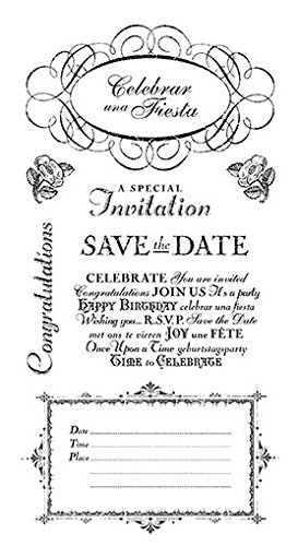 Graphic 45 Time to Celebrate Cling Stamps, No.3 by Graphic 45 B0149HA5UO | Neues Produkt