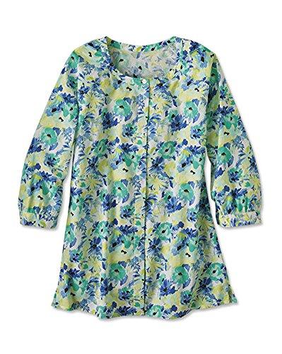 Orvis Women's Watercolor-floral Cotton Voile Shirt, 6