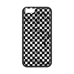 iPhone 5 5s Protective Case - Black and White Plaid Hardshell Cell Phone Cover Case for New iPhone 5 5s Designed by HnW Accessories