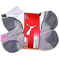 Puma No Show Women's Socks, Moisture Control Mesh Ventilation ( 8 Pair)