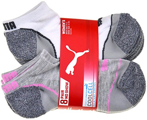 Puma Ladies 8-pair No Show Socks for Women (White)