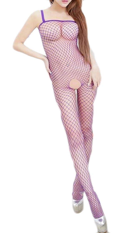 Yayu Women Fishnet Racy Lingerie Teddy Chemises Bodysuit Babydoll Jumpsuit Hollow Out Lingerie