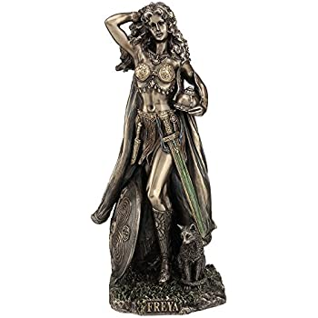 Gentil Freya Norse Goddess Of Love, Beauty And Fertility Statue