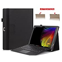 Lenovo IdeaPad Miix 700 Case, TopAce PU Leather Smart Case With Stand Function For Lenovo IdeaPad Miix 700 (Black)