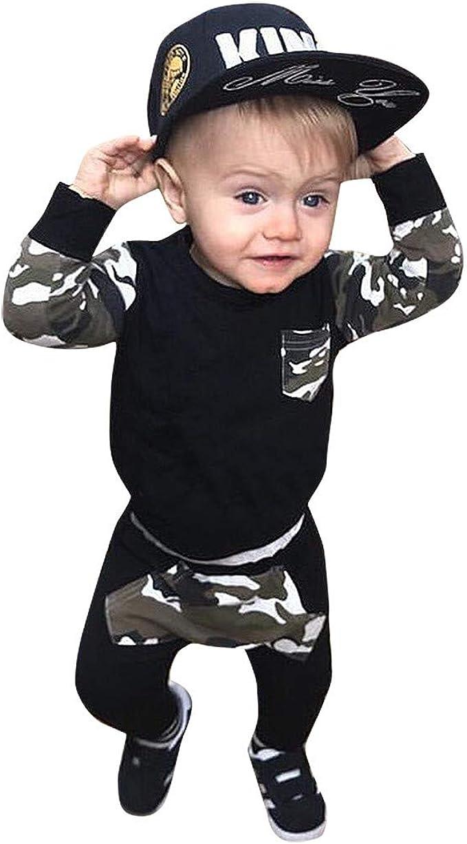 Lot de 2 tenues /à manches longues pantalon camouflage pour enfants Printemps automne