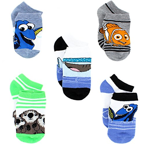 Finding Dory Nemo Boys 5 pack Socks (4-6 Toddler (Shoe: 7-10), Dory and Friends)
