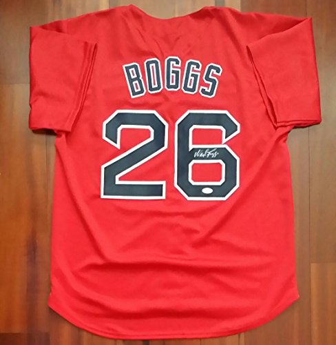 Wade Boggs Boston Red Sox Autographed Signed Jersey JSA (Wade Jersey Boggs Autographed)