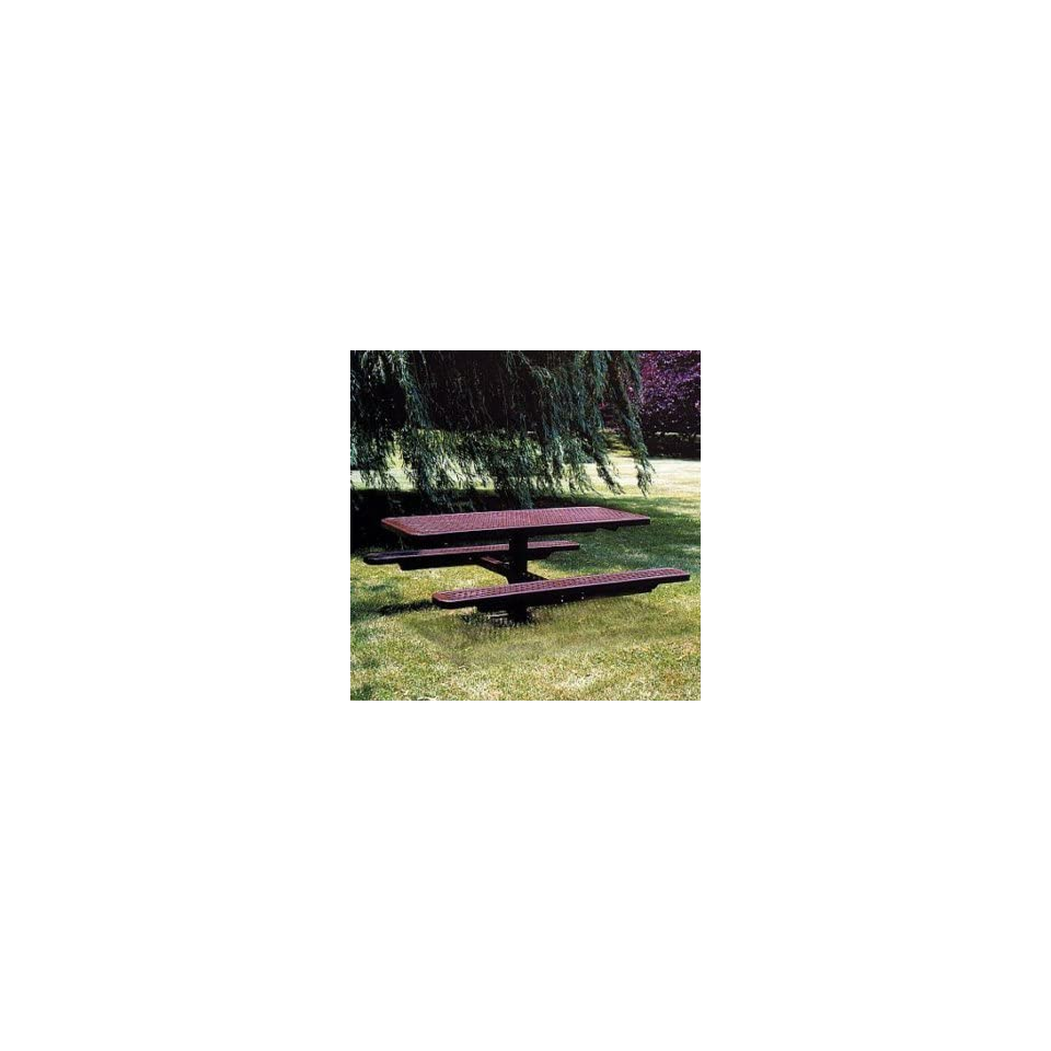Expanded Metal Pedestal Picnic Table