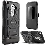 LG G3 Stylus (D690) Case, Evocel® [New Generation] Dual Layer Rugged Holster Case (DOES NOT FIT LG G3) with Kickstand and Belt Swivel Clip For LG G3 Stylus (D690) - Retail Packaging, Black