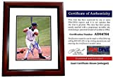 Miguel Cabrera Signed - Autographed Florida Marlins - Miami Marlins 8x10 inch Photo MAHOGANY CUSTOM FRAME - 2003 World Series Champion - 2x MVP - PSA/DNA Certificate of Authenticity (COA)