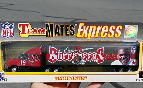 2000 Team Mates TAMPA BAY BUCCANEERS Keyshawn Jackson Express NFL FOOTBALL Tractor Trailer Truck in 1:80 Scale Diecast