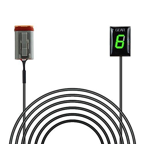IDEA Waterproof Motorcycle Gear Indicator Plug & play LED Display for Harley Davidson (Green)