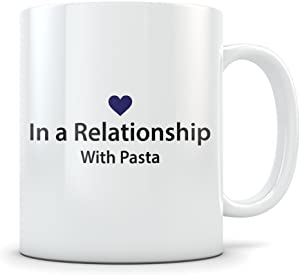 Pasta Lover Gift - Funny Mug for Italian Food Lovers - Great Gag Cup for Someone Who Loves to Eat Spaghetti, Lasagna, Ravioli, Tortellini, Canelloni, or Macaroni
