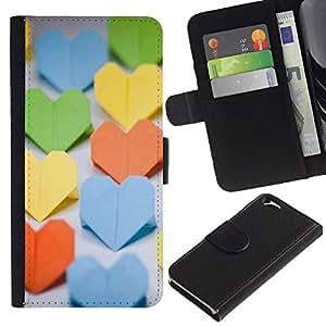 JackGot ( Cuore di carta ) Apple (4.7 inches!!!) iPhone 6 / 6S la tarjeta de Crédito Slots PU Funda de cuero Monedero caso cubierta de piel