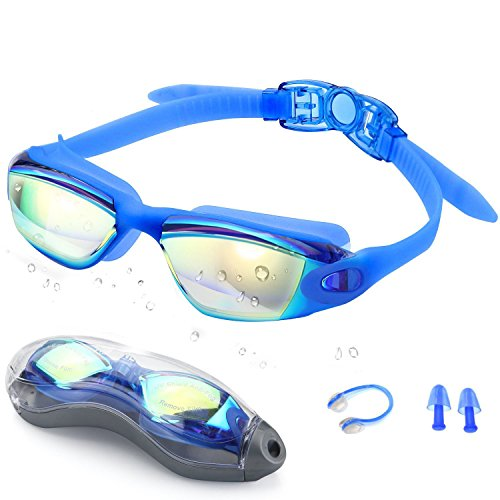 Swim Goggles,Swimming Goggles - Zerhunt Professional Anti Fog No Leaking UV Protection Wide View Swim Goggles For Women Men Adult Youth - Goggle Swim