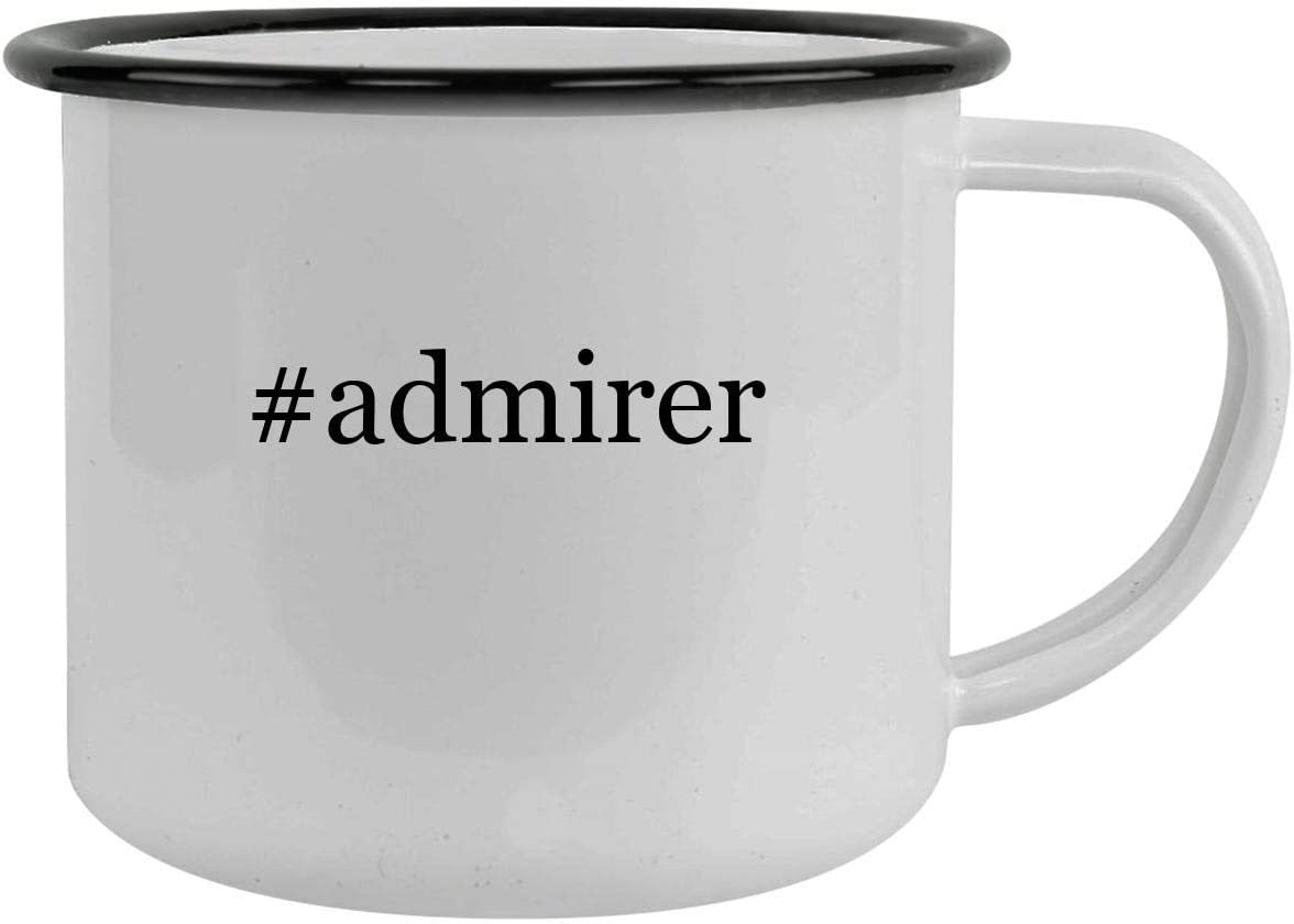 #admirer - 12oz Hashtag Camping Mug Stainless Steel, Black