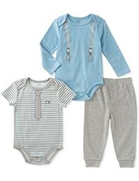 Baby Boys' 3 Pieces Bodysuit Pant Set