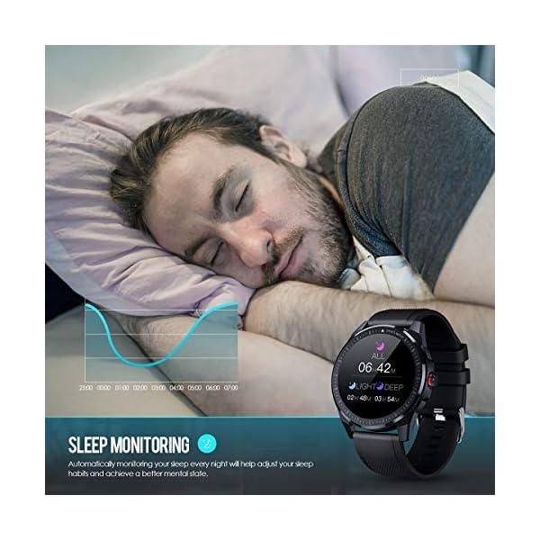 GOKOO Montre Connectée Homme Etanche Smartwatch Écran Tactile Montre Bracelet Connecté Cardio Sport Fitness Tracker d…