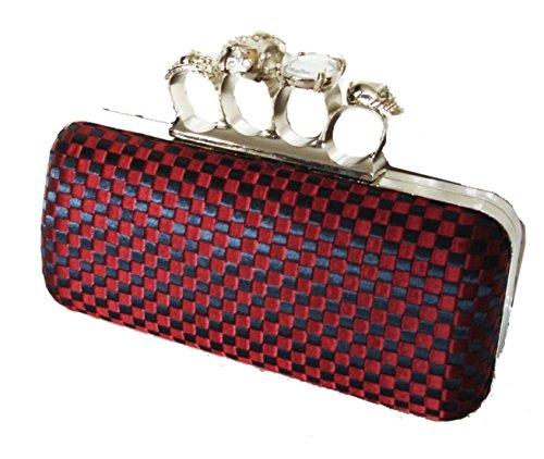 Hermosa seda nudillos Diseño La bolsa de embrague caja, por Aimerfeel Rotwein