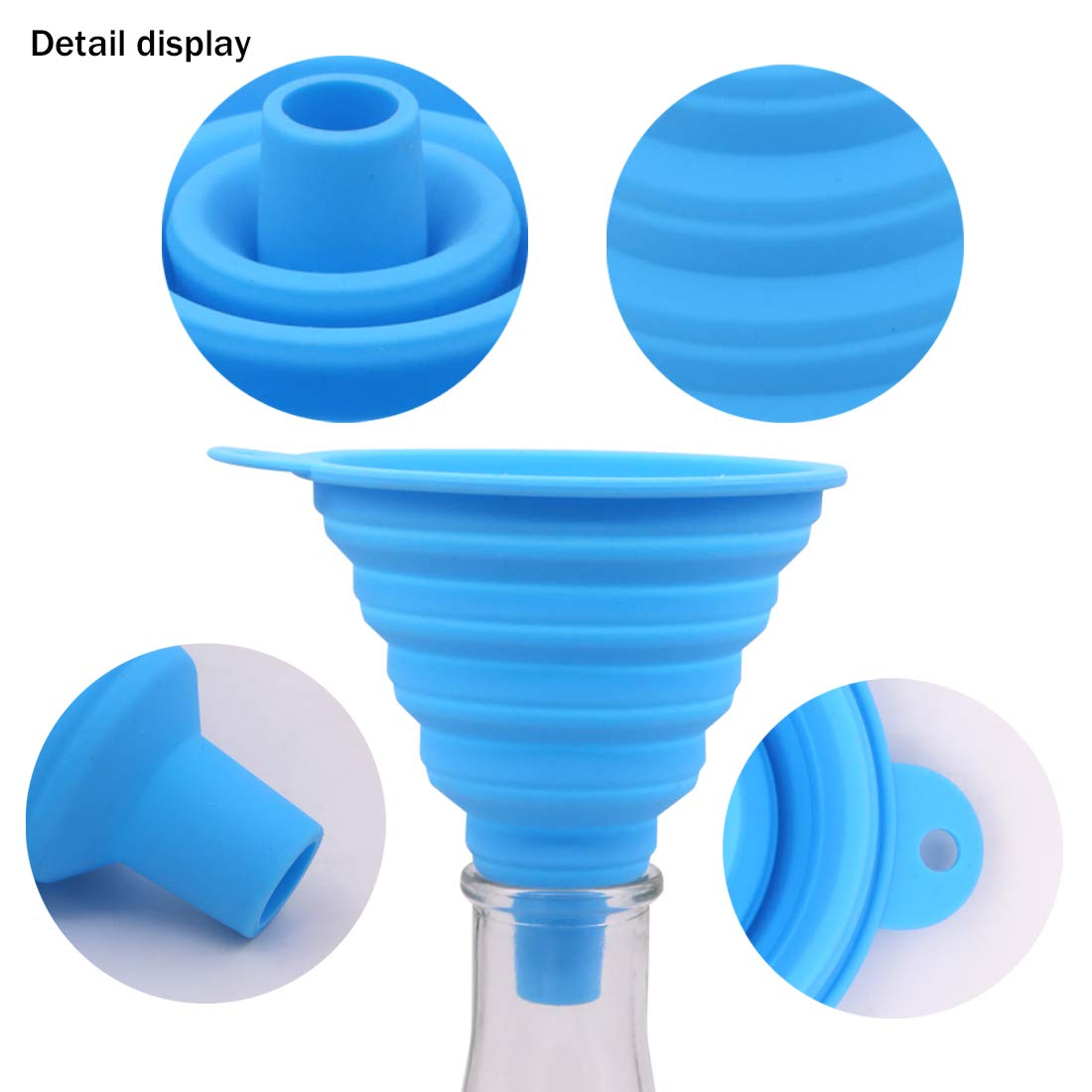 Wandou 200pcs Paint Strainer Filter 100 Mesh Disposable Nylon Conical Paper Purifying Cup Paint Paper Strainers with 1 Pcs Silicone Folding Funnel