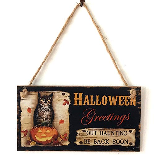 Boutique Sale,KIKOY Happy Halloween Wooden Pendant Door Decorations Hanging Party Decoration -