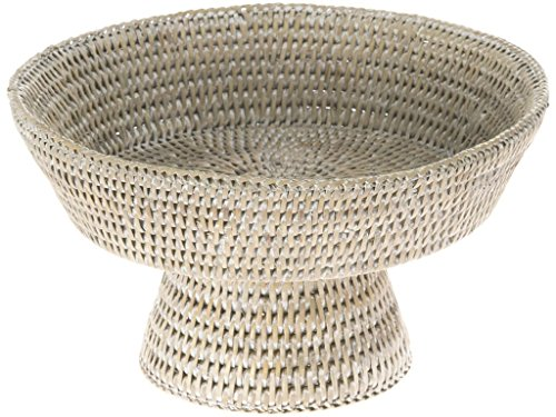 stal Rattan Fruit Bowl, White Wash (White Lacquer Buffet)